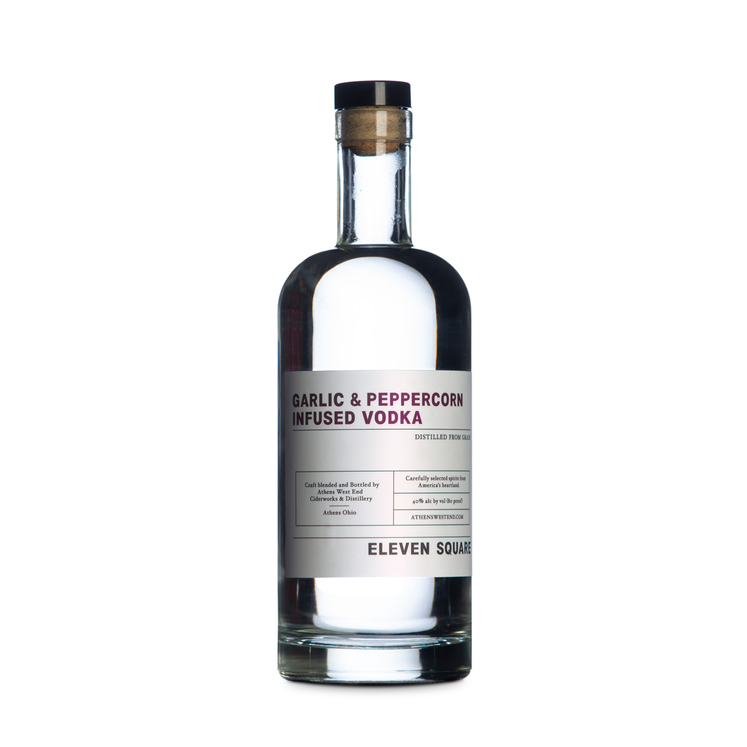 West End Distillery - Product - Eleven Square Garlic Peppercorn Vodka